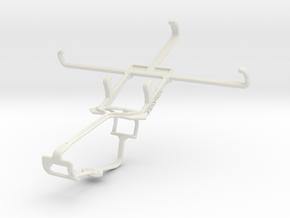 Controller mount for Xbox One & Lava Iris Fuel 50 in White Natural Versatile Plastic