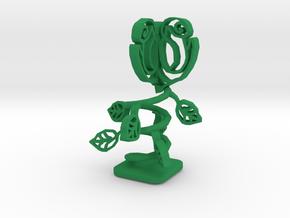 Mechanical Rose in Green Processed Versatile Plastic