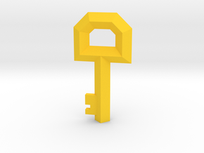 Small Key Replica  (Legend of Zelda, 1986) in Yellow Processed Versatile Plastic