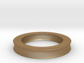 0137 Astroid Torus (R=8, r=2, θ=pi/4) 5cm in Matte Gold Steel