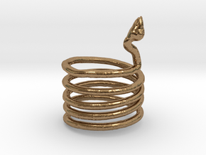 Snake Ring in Natural Brass