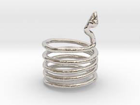 Snake Ring in Platinum