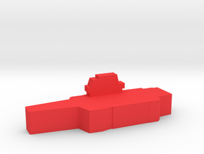 Game Piece, Red Force Kuznetsov Carrier in Red Processed Versatile Plastic