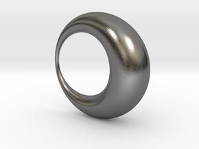0052 Antisymmetric Torus (p=1.0) #001 in Polished Nickel Steel