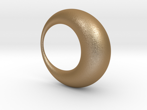 0052 Antisymmetric Torus (p=1.0) #001 in Matte Gold Steel