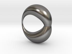 0053 Antisymmetric Torus (p=1.5) #002 in Polished Nickel Steel