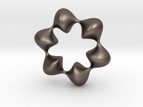 0059 AntisymmetricTorus (p=6.0) #008 in Polished Bronzed Silver Steel