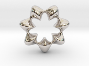 0066 AntisymmetricTorus (p=7.0) #009 in Rhodium Plated Brass