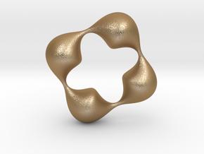 0057 Antisymmetric Torus (p=4.0) #006 in Matte Gold Steel