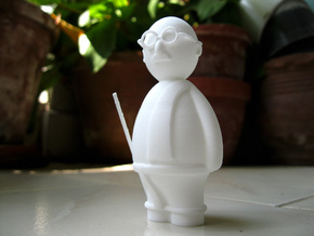 Gandhi - Indian-vidual Indian style figurine in White Strong & Flexible Polished