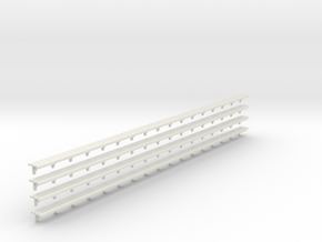 Benchseat X 4 - 4mm in White Natural Versatile Plastic