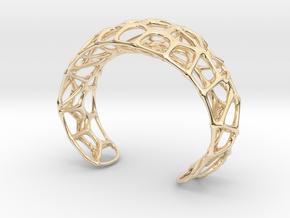 Voronoi Webb Fibre Cuff in 14k Gold Plated Brass
