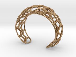 Voronoi Webb Fibre Cuff in Polished Brass