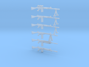 1/35 FN FALO assault rifles / machine guns (6) in Frosted Ultra Detail