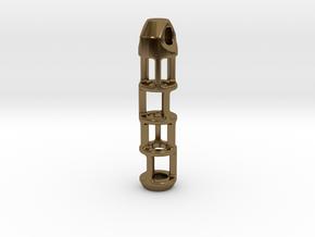 Tritium Lantern 2B (Silver/Brass/Plastic) in Polished Bronze
