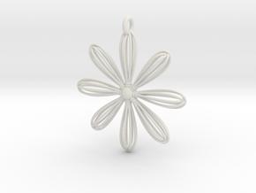 Whiskey Flower in White Natural Versatile Plastic