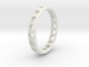 Ring Circles in White Natural Versatile Plastic