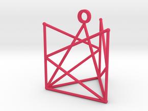 Tri-pendant in Pink Processed Versatile Plastic