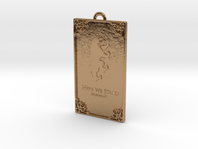 Game of Thrones - Mormont Pendant in Polished Brass