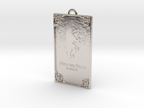 Game of Thrones - Mormont Pendant in Rhodium Plated Brass