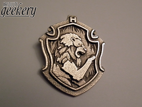 Gryffindor House Crest - Pendant LARGE in Stainless Steel