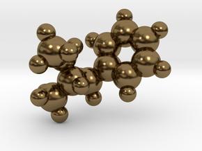 Methamphetamine molecule pendant in Polished Bronze