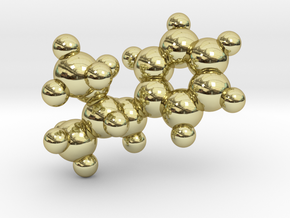 Methamphetamine molecule pendant in 18k Gold Plated Brass