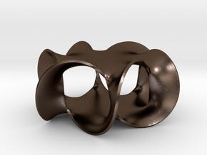 Hexagram 1 (2¼ in) in Polished Bronze Steel