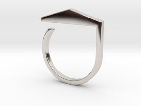 Adjustable ring. Basic model 3. in Rhodium Plated Brass