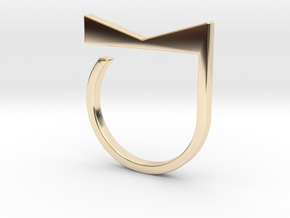 Adjustable ring. Basic model 4. in 14K Yellow Gold