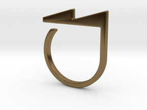 Adjustable ring. Basic model 5. in Polished Bronze