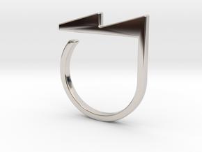 Adjustable ring. Basic model 5. in Rhodium Plated Brass