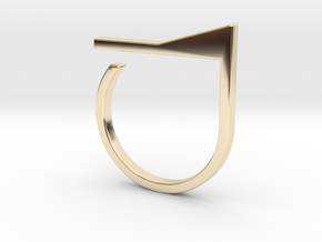 Adjustable ring. Basic model 7. in 14k Gold Plated Brass