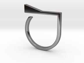 Adjustable ring. Basic model 8. in Fine Detail Polished Silver