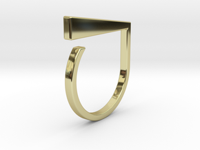 Adjustable ring. Basic model 1. in 18k Gold Plated Brass