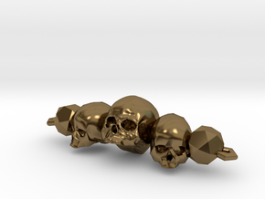 Skull Bracelet in Polished Bronze