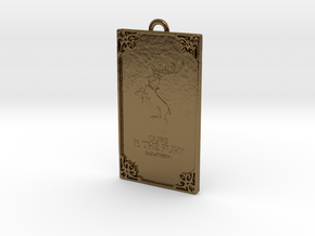 Game of Thrones - Baratheon Pendant in Polished Bronze