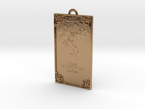 Game of Thrones - Baratheon Pendant in Polished Brass