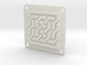 Knot Link Plate 001 in White Natural Versatile Plastic