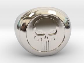 Punisher Size 7.5 in Platinum