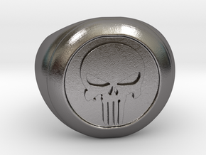 Punisher Size 7.5 in Polished Nickel Steel