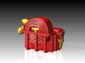Fire Hose - Flaked & Rolled x 6 1/72 in Smooth Fine Detail Plastic