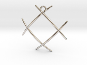 Hashtag in Rhodium Plated Brass