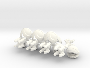 Scrapaci Famishius (5 pack) in White Strong & Flexible Polished