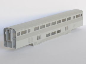 Amtrak California Car Cab Coach in Smooth Fine Detail Plastic