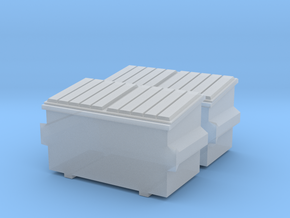 2 N-scaleDumpsters in Smoothest Fine Detail Plastic
