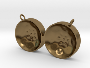 "Double Tenor ""damntingself"" pendant, L in Polished Bronze"