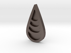 Unova Badge [Wave] in Polished Bronzed Silver Steel