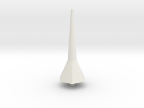 Hexa Tower Spike Scale Part in White Natural Versatile Plastic