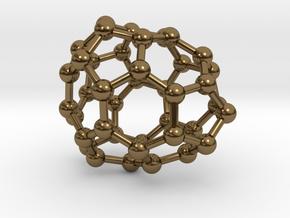 0118 Fullerene C40-12 c1 in Polished Bronze
